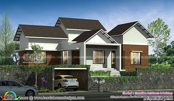 2890 square feet 4 bedroom modern house above road level