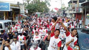 Ribuan Massa Warnai Konfoi Pasangan IMAN di Bolo