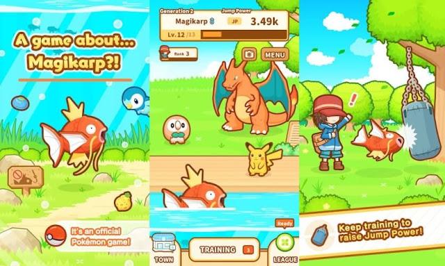 Daftar Game Pokemon Resmi (Buatan Official) Untuk Android - Pokemon Magikarp Jump
