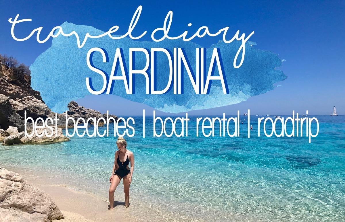 Travel Diary Sardinien Reisebericht Roadtrip Sardinia Boot mieten Vlog schönste Strände Sardiniens MORE ON http://www.theblondelion.com/2017/08/vlog-travel-diary-sardinien-ostkueste-roadtrip-straende.html