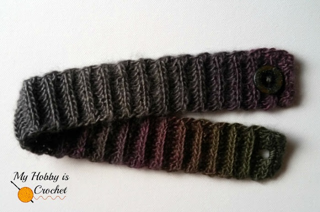 working crochet band of the Echo Ridge Slouch Hat