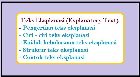 Teks Eksplanasi (Explanatory Text) - berbagaireviews.com