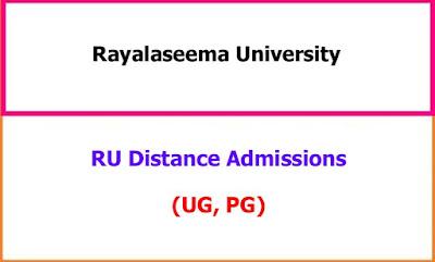 Rayalaseema University Distance Admissions 2021-22