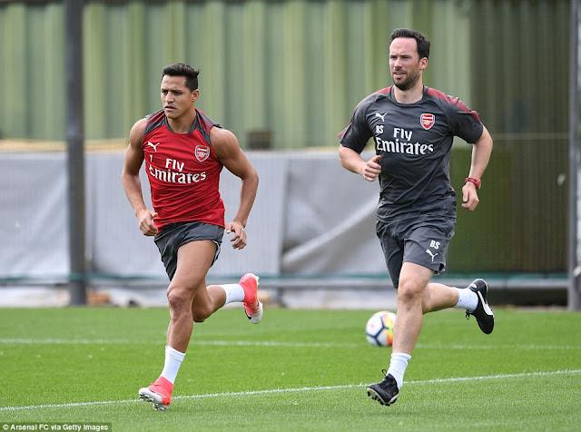 Alexis Sanchez trở lại luyện tập, chờ đợi ngày rời Arsenal