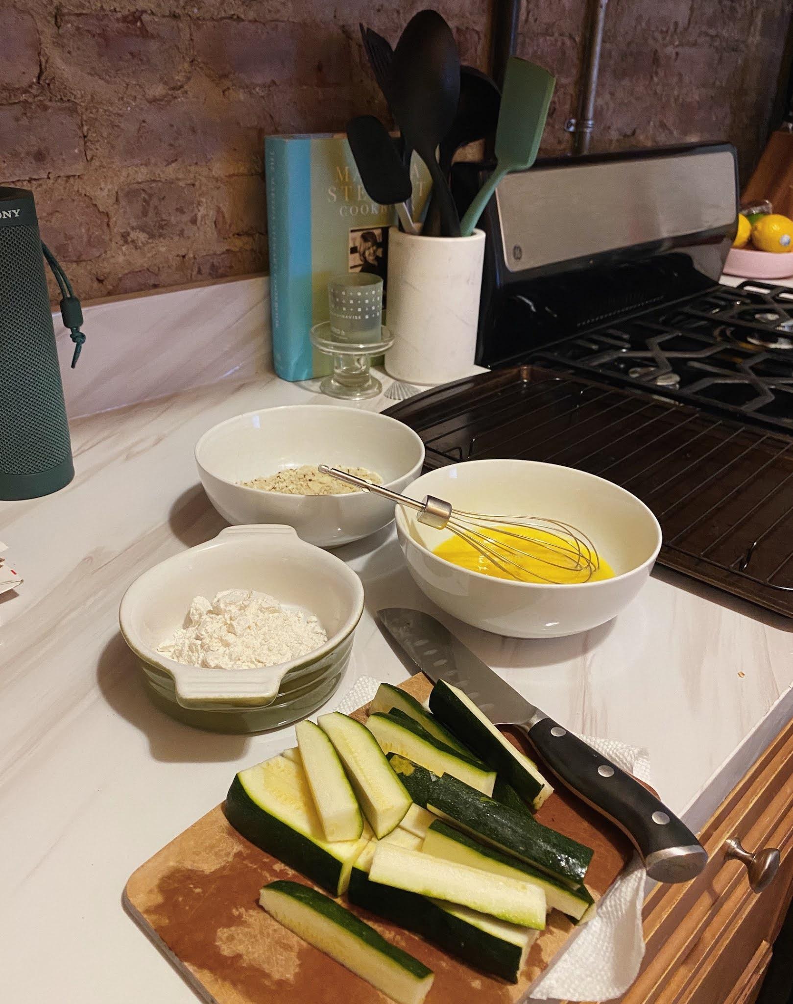 fran acciardo easy baked zucchini fries and homemade lemon garlic aioli