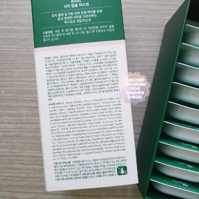 VT Cosmetics Cica Capsule Mask Review