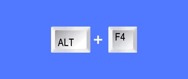 Atalho de teclado ALT+F4 para desligar o pc pelo teclado
