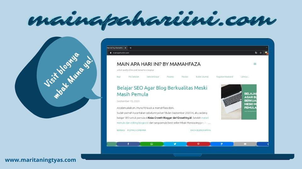 blognya mbak muna - mainapahariini.com
