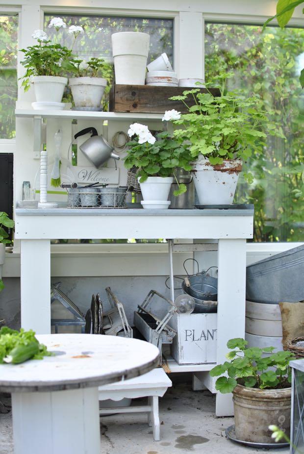 planteringsbord växthus hannashantverk.blogspot.se