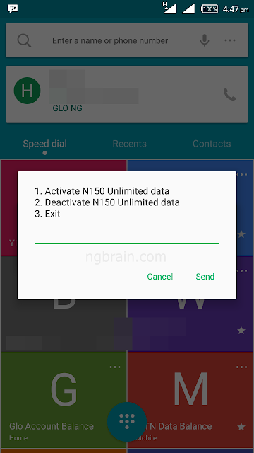 How to activate mtn N150 daily unlimited plan