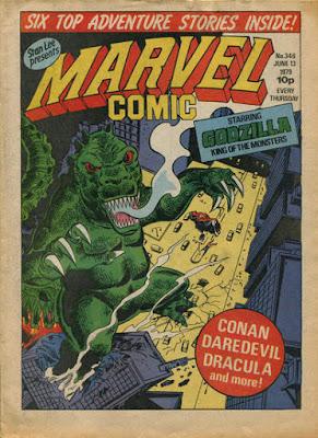 Marvel Comic #346, Godzilla