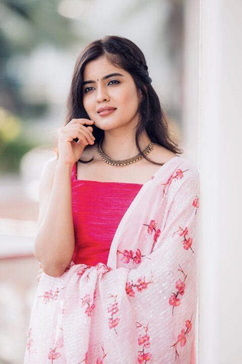 Amritha Aiyer in Pink Salwar Stills