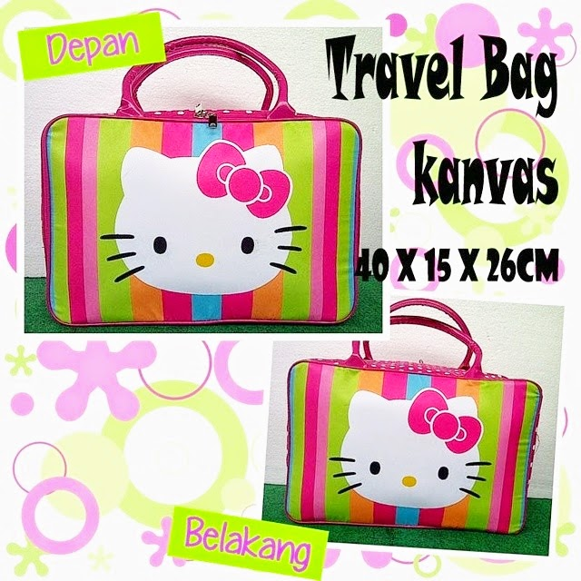 Jual Travel Bag Kanvas Hello Kitty Murah