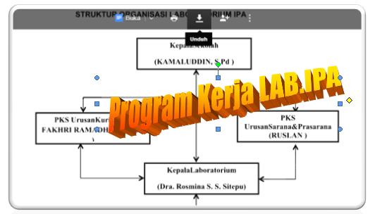 gambar struktur program kerja Laboratorium IPA SMP
