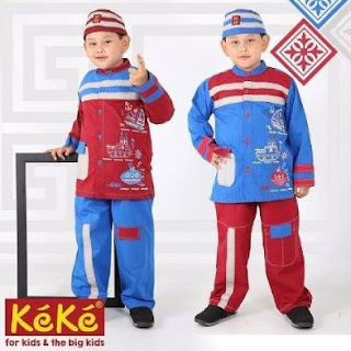 Baju Gamis Anak Keke Lengkap Dengan Baju Keke Anak Laki-Laki