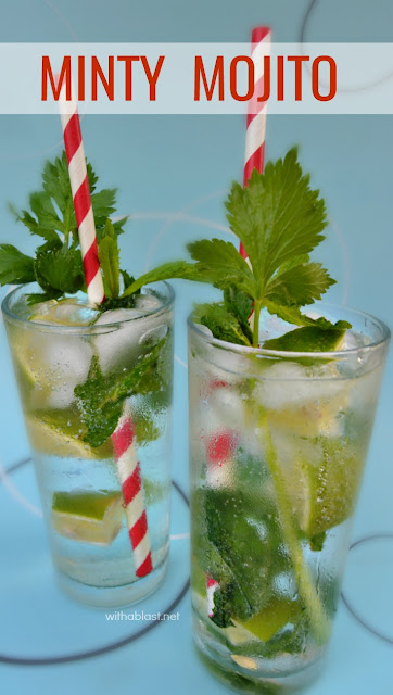 Deliciously, refreshing Minty Mojito - You can never go wrong with a Mojito in Summer ! Summer Drink / Cocktail