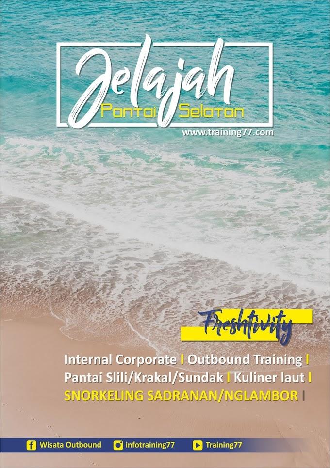 Asyiknya Jelajah Pantai selatan Bersama Training77_Outbound Klaten_Outbound Murah