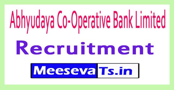 Abhyudaya Co-Operative Bank Limited Recruitment