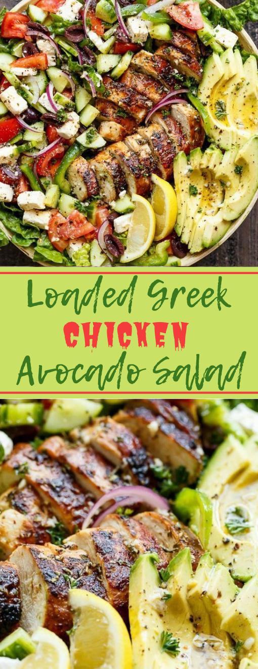 Loaded Greek Chicken Avocado Salad #salad #healthyrecipes #dinner #cauliflower #food