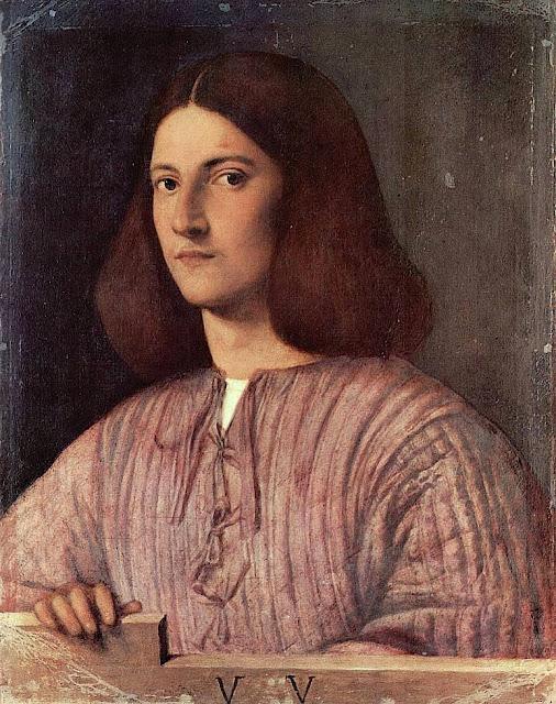 Giorgio da Castelfranco dit Giorgione (1478-1510), Portrait d'un jeune homme, c. 1504) Huile sur toile 58 x 46 cm. Gemäldegalerie, Berlin