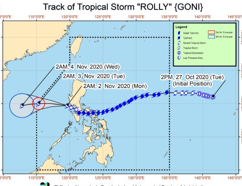 'Bagyong Rolly' PAGASA weather update November 2, 2020
