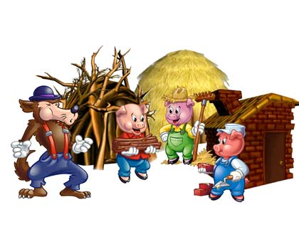 dongeng Bahasa Inggris singkat the three little pigs
