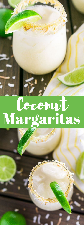 COCONUT MARGARITA #drink #cocktail #coconut #smoothie #yummy
