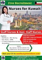 NURSES TO KUWAIT - FREE RECRUITMENT