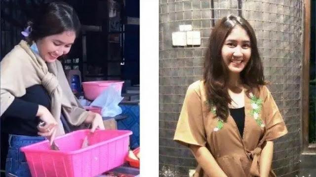 Penjual Gorengan Cantik di Jogja, Bikin Netizen Salfok