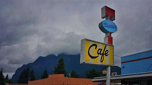 Sombre clouds strike the appropriate Twin Peaks vibe in North Bend WA.