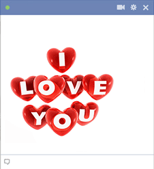 I Love You Hearts For Facebook