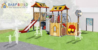 BabyBuild 塑木遊具示意圖