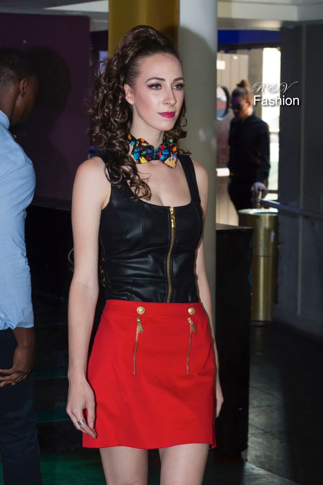 Morgan ma Belle wearing Bowties by Brunson on the runway | downtown Austin fashion show