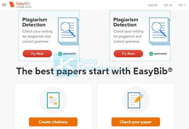 EasyBib Plus plagiarism detector menawarkan bantuan menyeluruh untuk menutupi semua tulisan atau tugas yang terdeteksi plagiat.