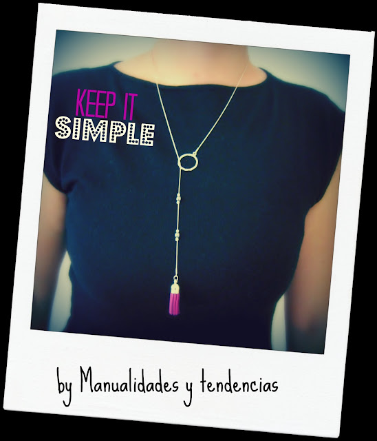 DIY Collar con borla / Tassel necklace / Collier pompom