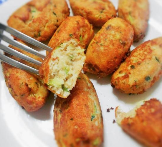 Le polpette di pollo e rucola - senza glutine