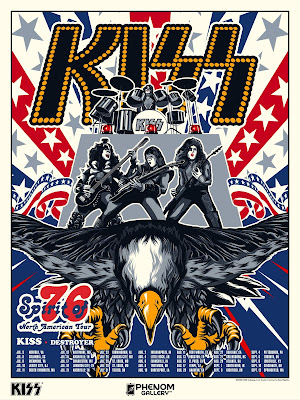 "KISS ""Spirit of '76 North American Tour"" Screen Print by Anthony Zych x Phenom Gallery"
