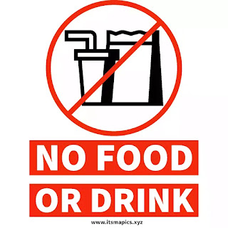 Free No food or drink sign printable