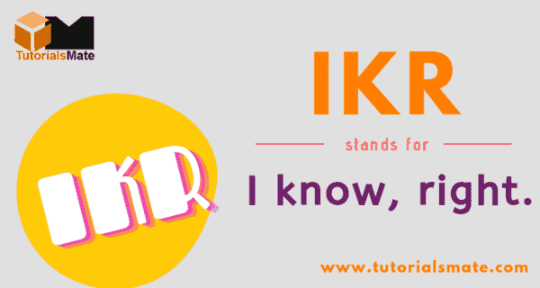 IKR Full Form