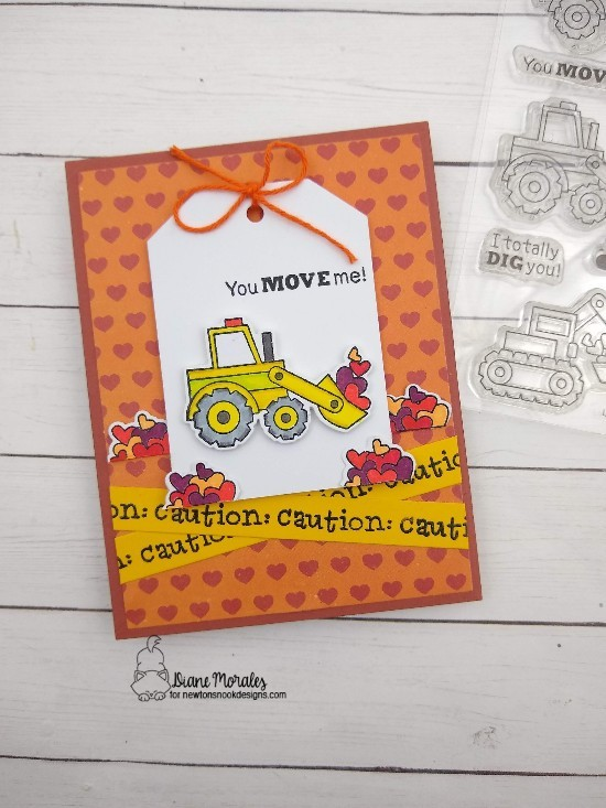 You move me by Diane features Cuppa Cactus, Love Quarry, and Fancy Edges Tag by Newton's Nook Designs; #newtonsnook