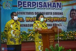 Welly Tigtigweria Gelar Perpisahan dan Pelepasan Jabatan Sekretaris Daerah Kota Sorong