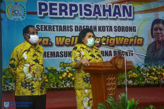 Welly Tigtigweria Gelar Perpisahan Pasca Pelepasan Sekretaris Daerah Kota Sorong.lelemuku.com.jpg