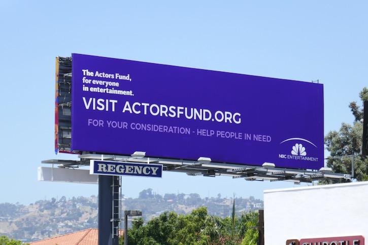 Actors Fund NBC Entertainment FYC billboard