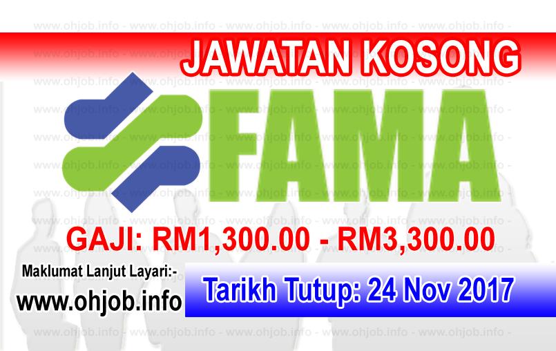 Jawatan Kerja Kosong FAMA - Lembaga Pemasaran Pertanian Persekutuan logo www.ohjob.info november 2017