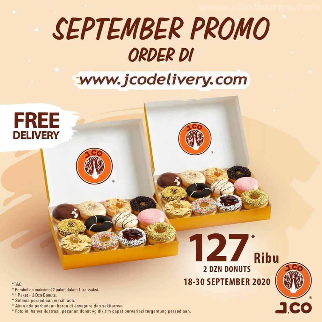 JCO Promo Free Delivery 2 DZN Donuts Cuma Rp 127 Ribu Periode 18 - 30 September 2020