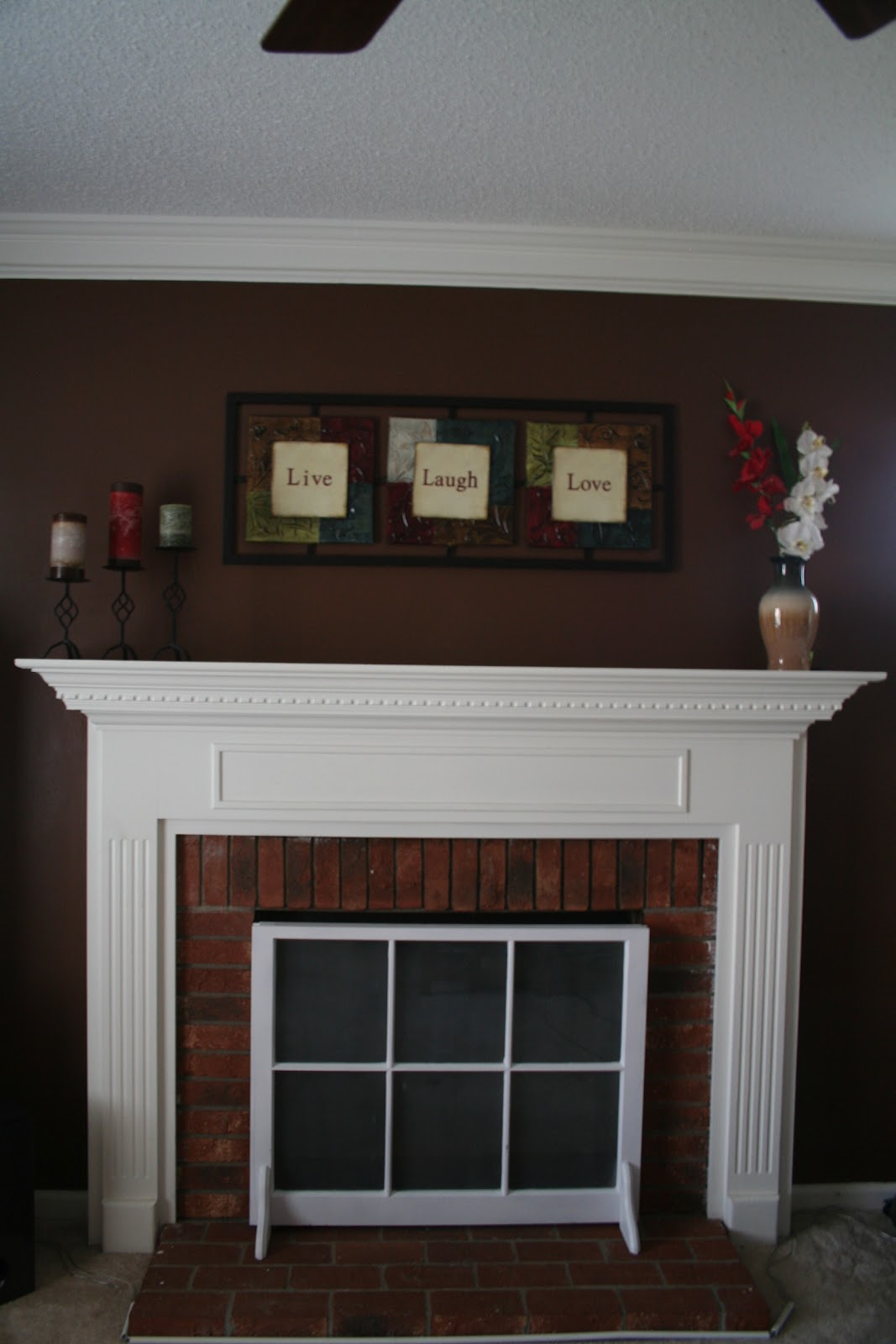 In A Nutshell.: How to cover up your fireplace when not in use
