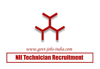 NII Technician Recruitment 2020