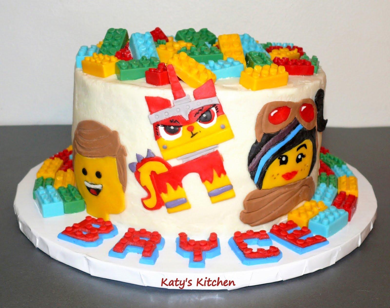 Brilliant Katys Kitchen Lego Movie 2 Cake Birthday Cards Printable Trancafe Filternl