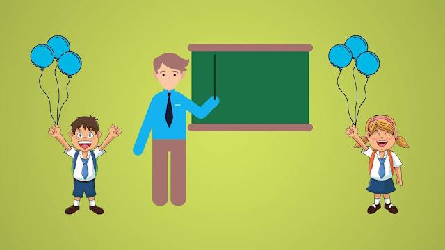 قصة المدرس والتلاميذ والبالونات