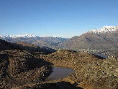 Vistas desde el sendero de Queenstown Hill, Nueva Zelanda